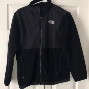 The north face girls black coat